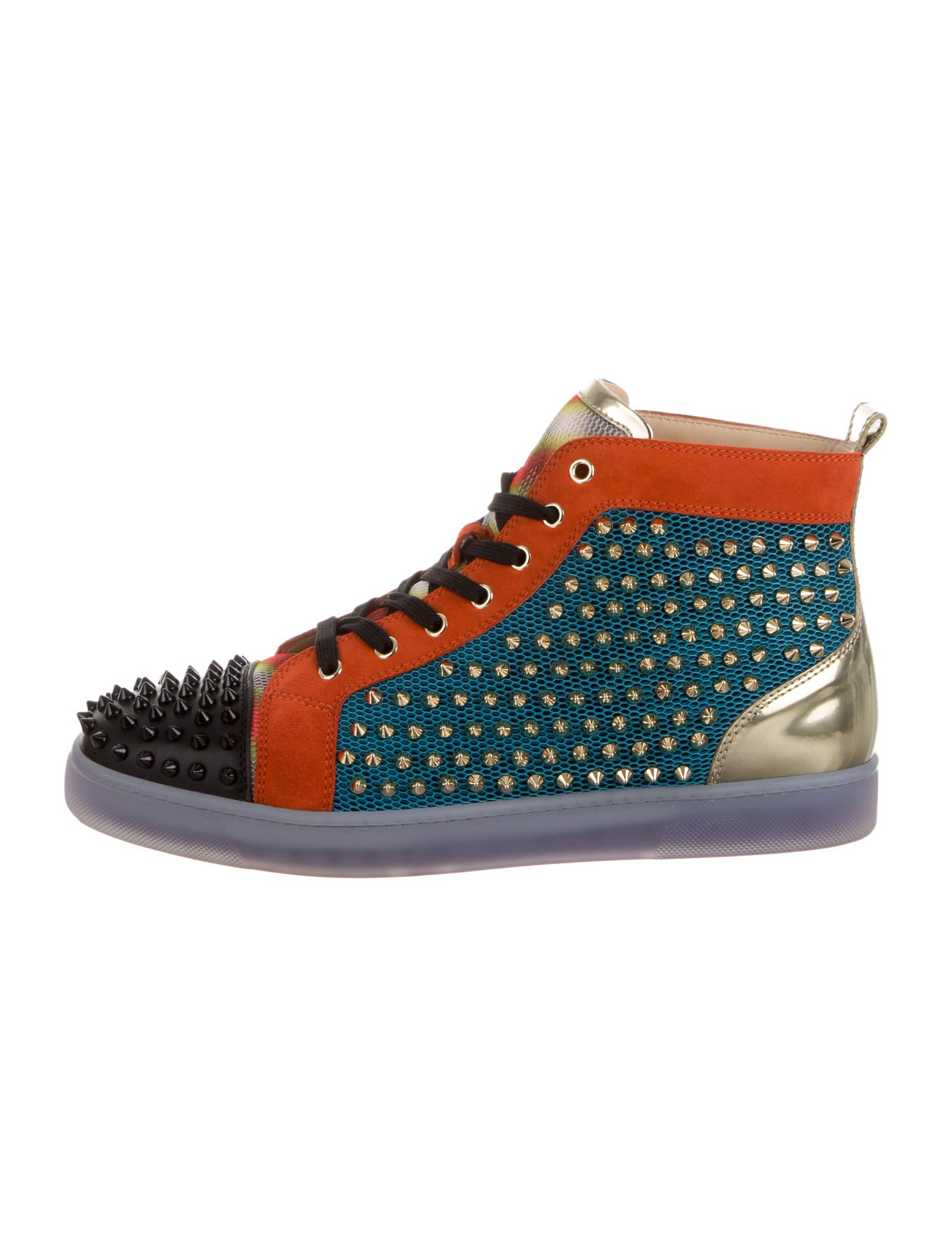 new concept e92c9 8cd51 Christian Louboutin Louis Flat Spike Sneakers - Shoes ...