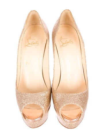 Glitter Lady Peep Pumps