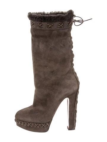 Grey Platform Ankle Boots