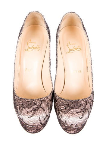 Lace & Satin Pumps