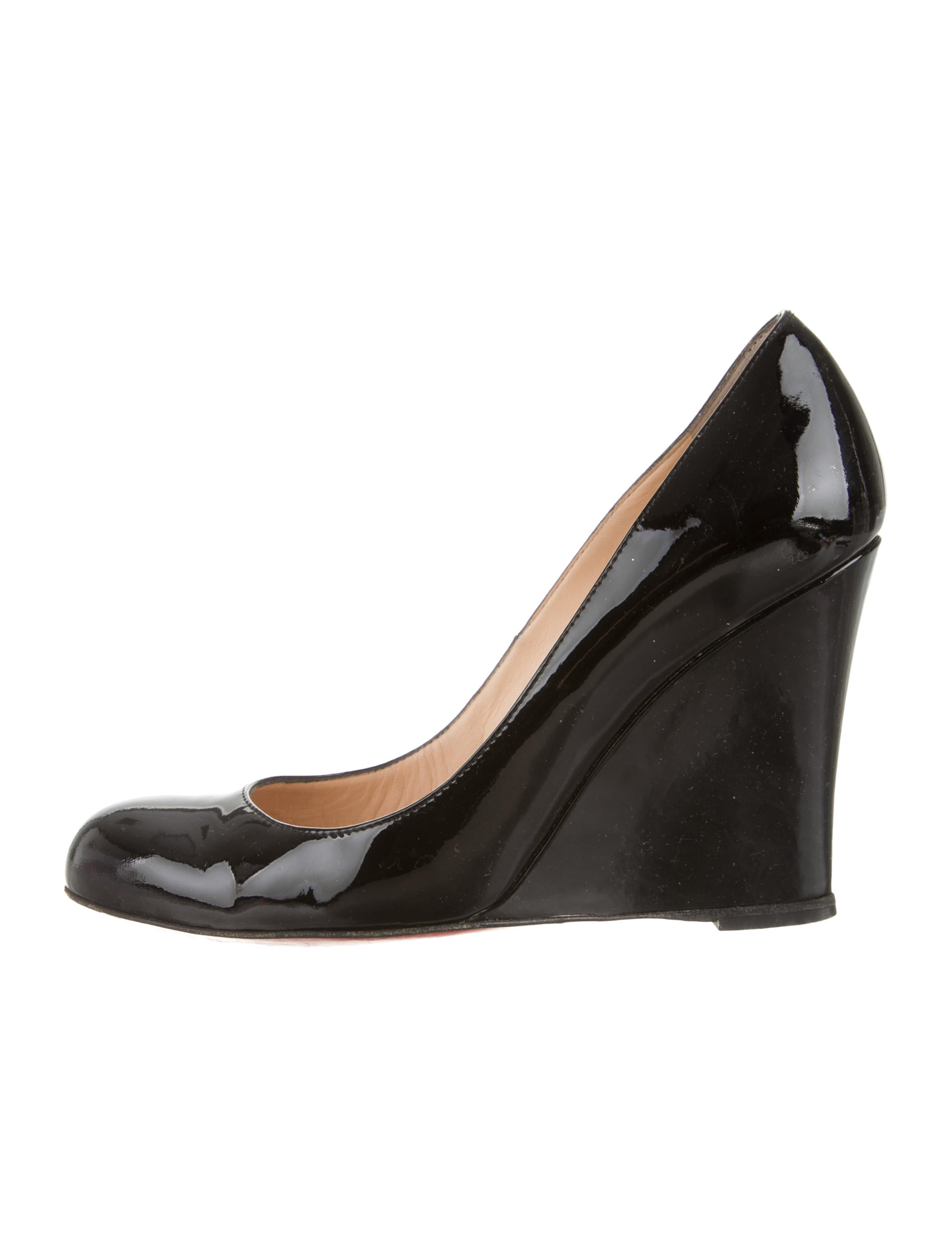 Black Patent Wedge Shoes Size