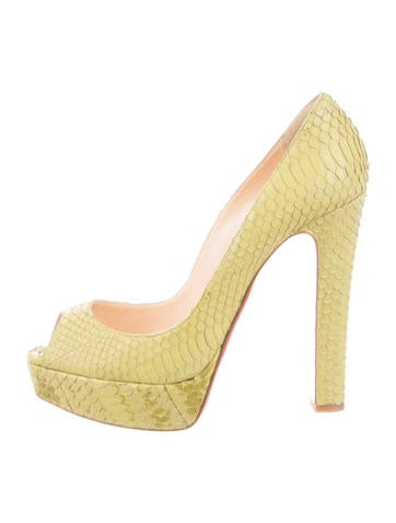 Watersnake Peep-Toe Platform Pumps