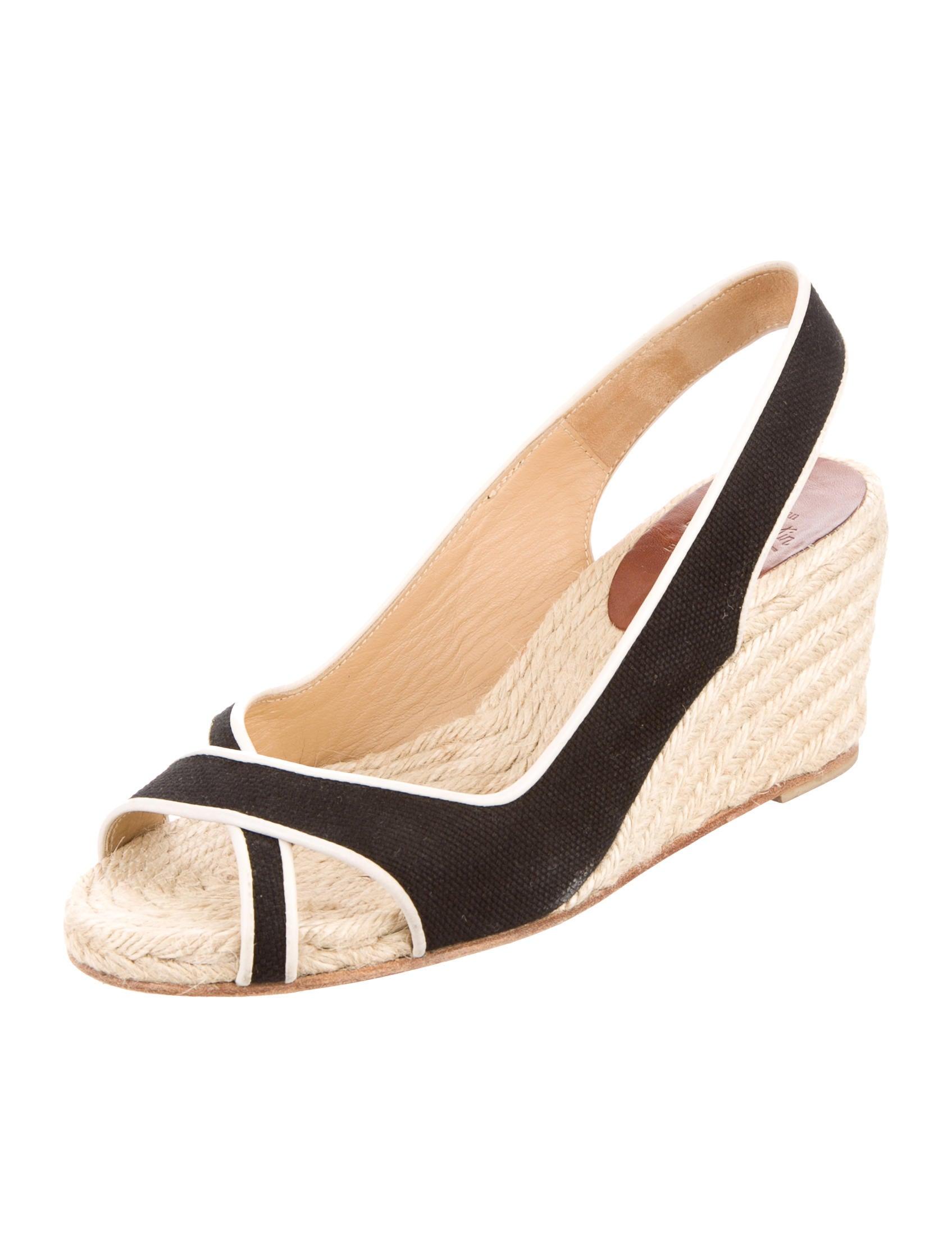 christian louboutin espadrille slingback wedges shoes
