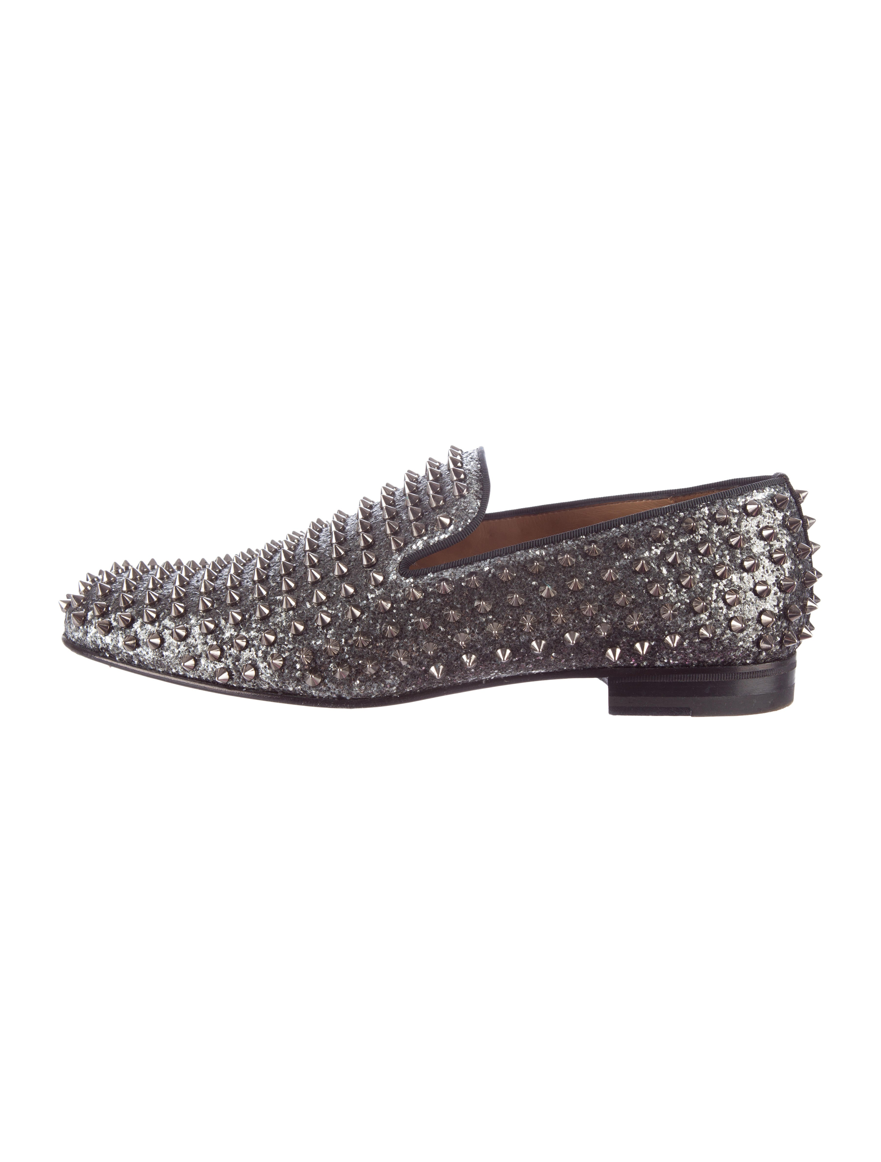 e55205db8c1 Christian Louboutin Prive Lou Spikes Orlato Men's Flat | Law Lanka