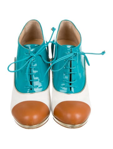 Colorblock Lace-Up Booties