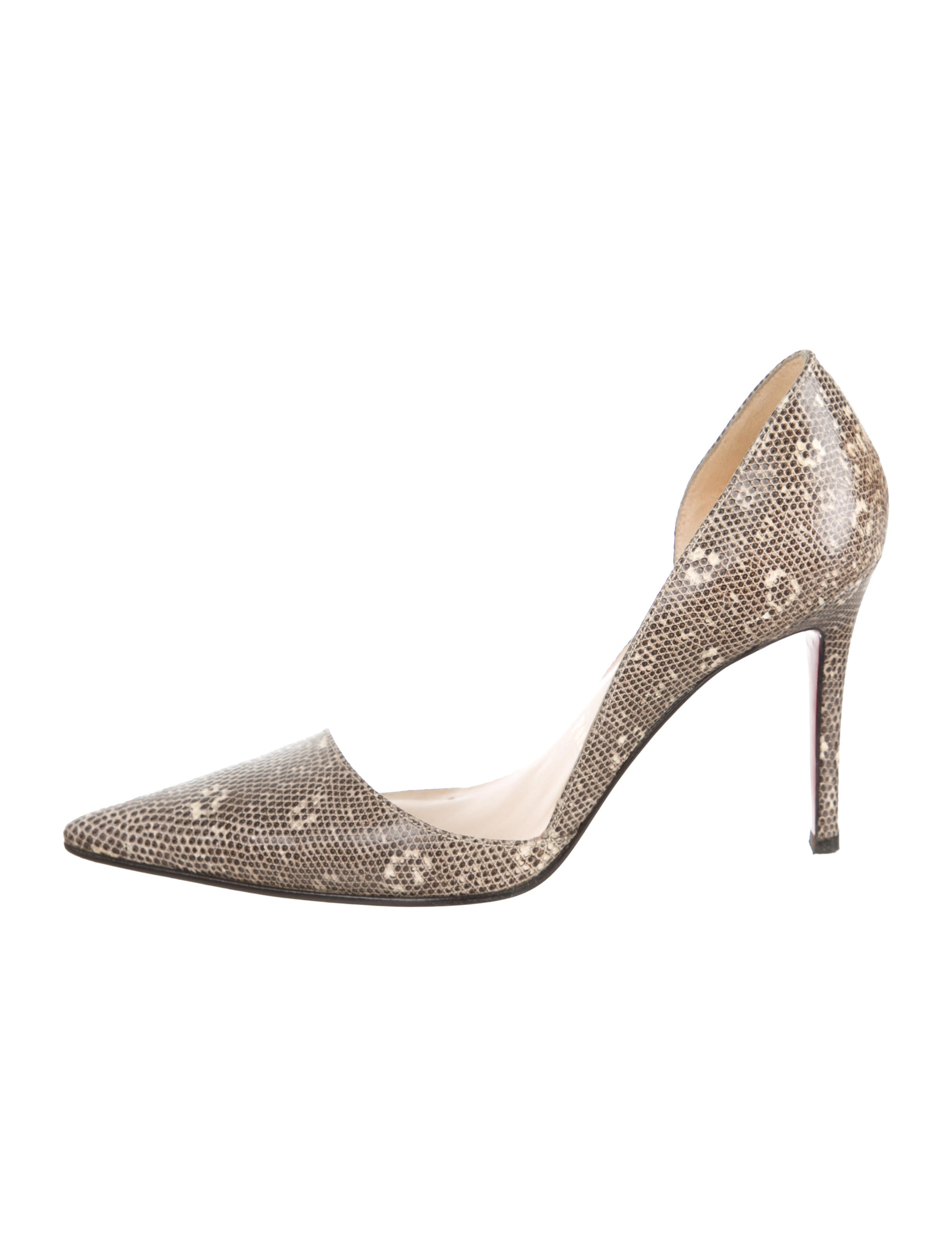 cheap sale finishline Christian Louboutin Lizard Pointed-Toe Pumps amazing price online great deals for sale outlet hot sale clearance professional RThB8KLFs