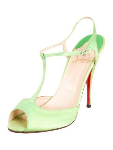 Satin T-Strap Sandals