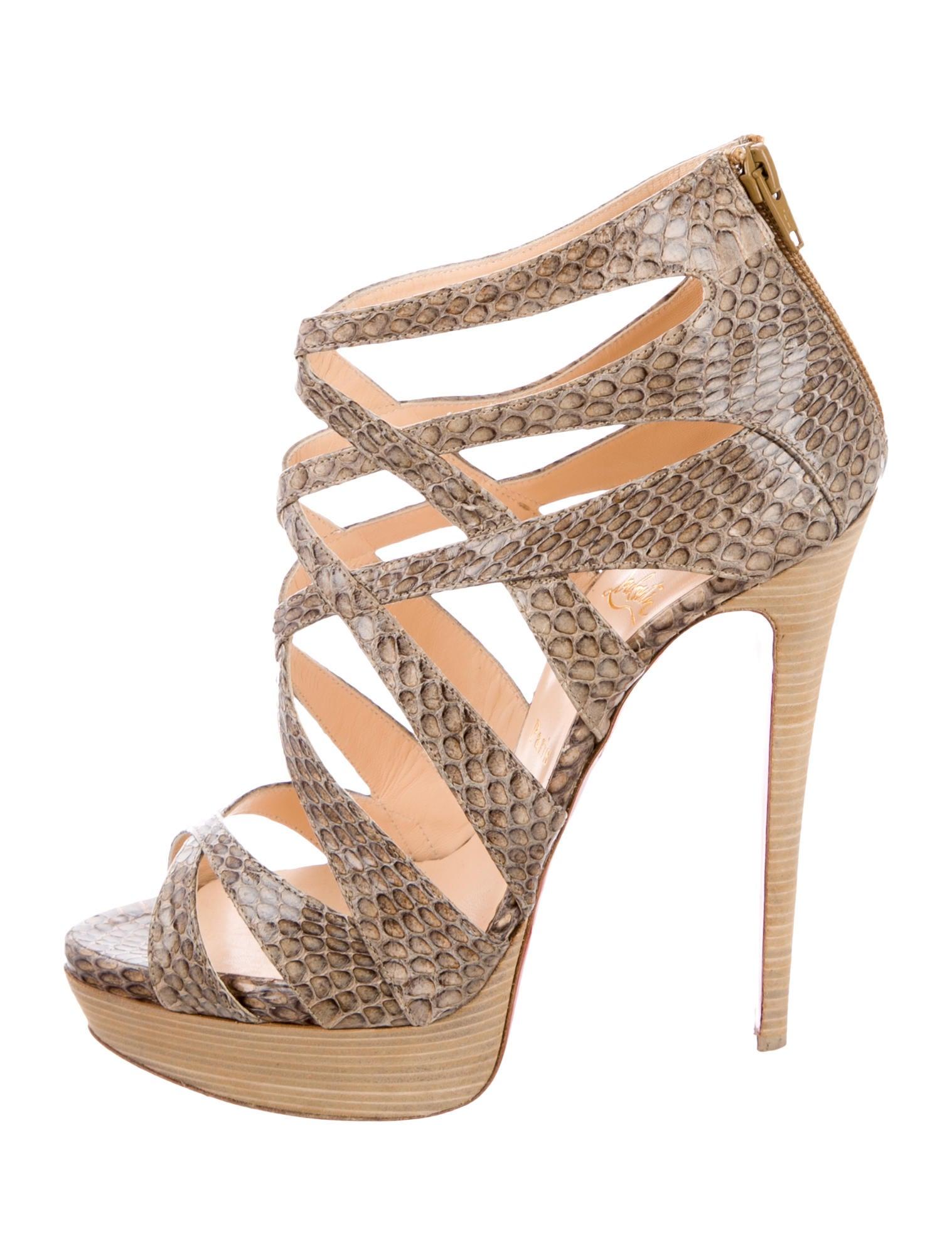 Christian Louboutin Python Balota 140 Sandals cheap sale cheap 9YLhm3NB