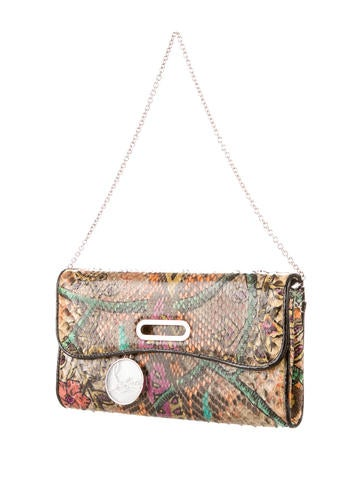 Batik Python Riviera Clutch Bag w/ Tags