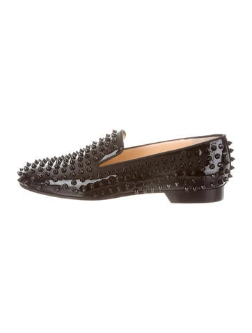 Spiked Round-Toe Loafers