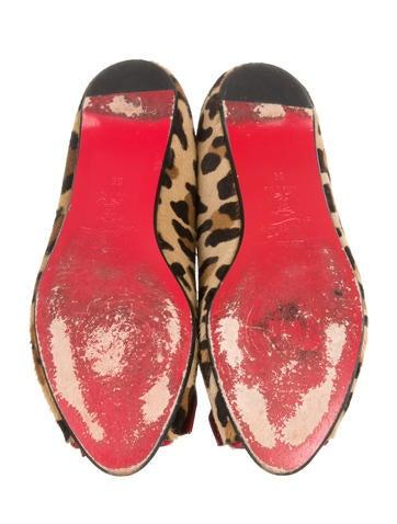 Ponyhair Peep-Toe Flats