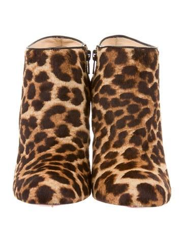 Leopard Printed Ponyhair Booties