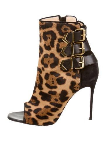 Peep-Toe Triboclou ankle booties