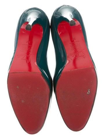 Patent Leather Round-Toe Platforms