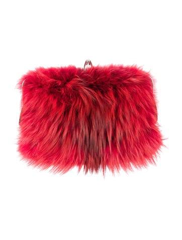 Anastasia Fox Fur Clutch