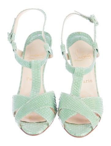 Snakeskin T-Strap Sandals