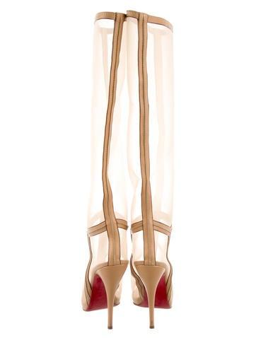 Mesh Knee-High Boots
