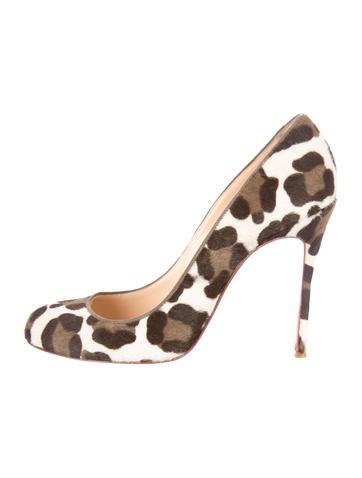 Ponyhair Leopard Pumps