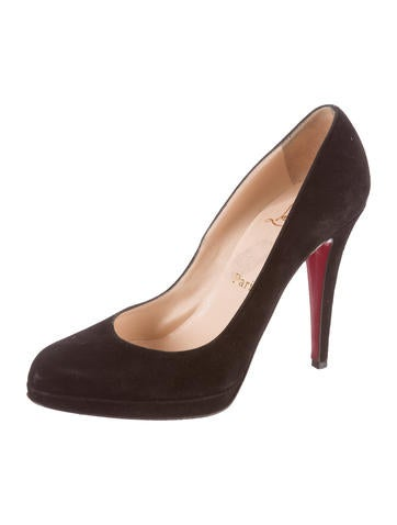 Suede Pointed-Toe Pumps