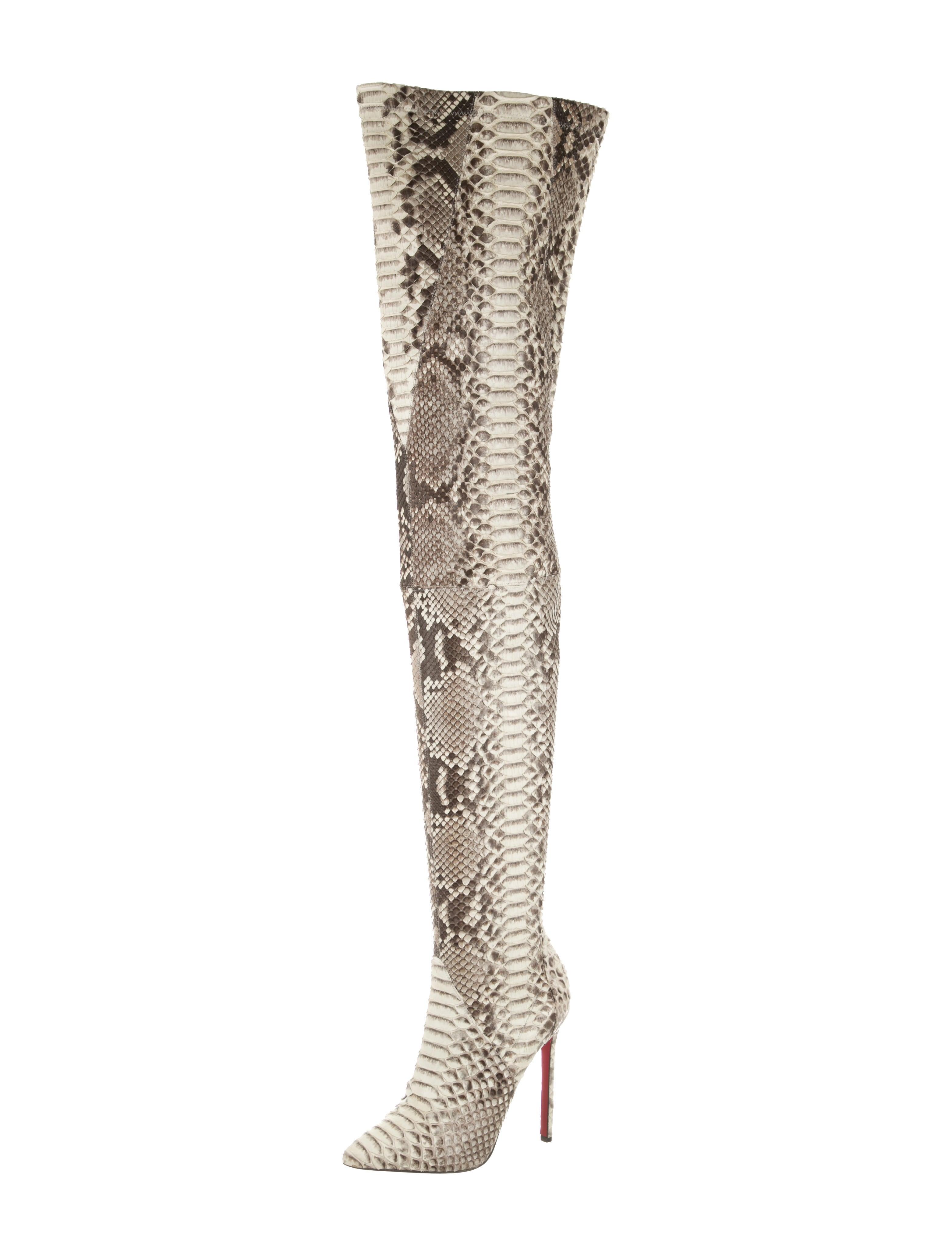 christian louboutin python boots