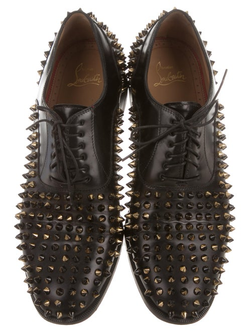 007146b3d1f1 Christian Louboutin Bruno Spikes Flat Oxfords - Shoes - CHT52467 ...