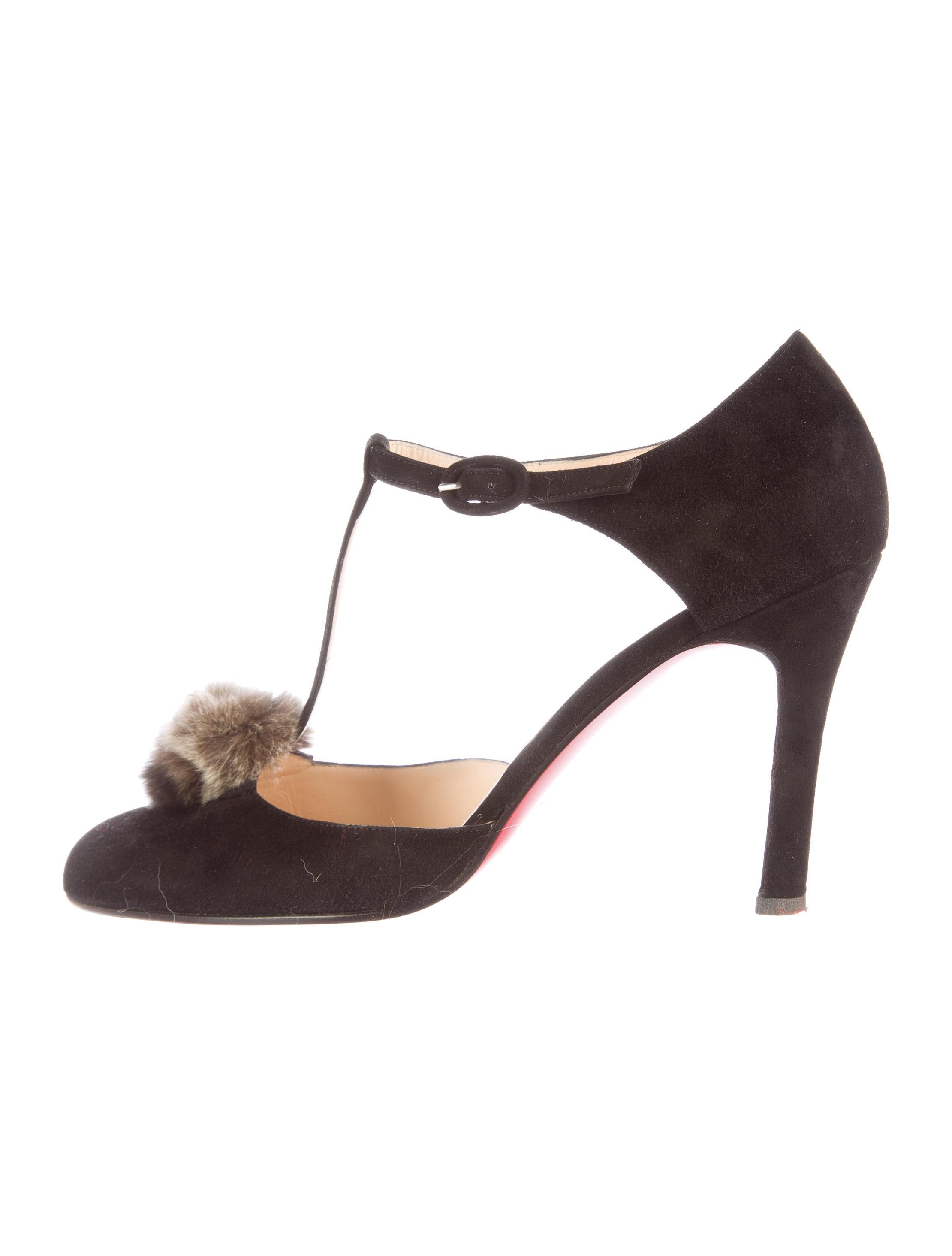 ff4ade3ad5b Christian Louboutin Chinchilla T-Strap Pumps - Shoes - CHT53412 ...