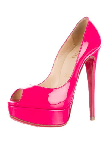 Patent Leather Lady Peep Pumps