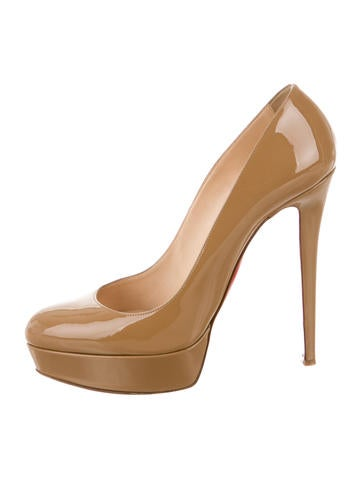 Christian Louboutin Patent Leather Platform Pumps None