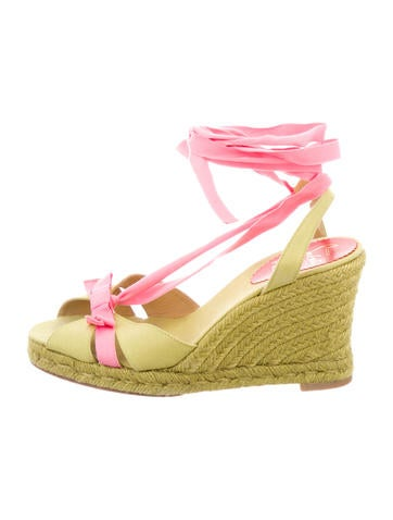 Christian Louboutin Multicolor Canvas Espadrilles None