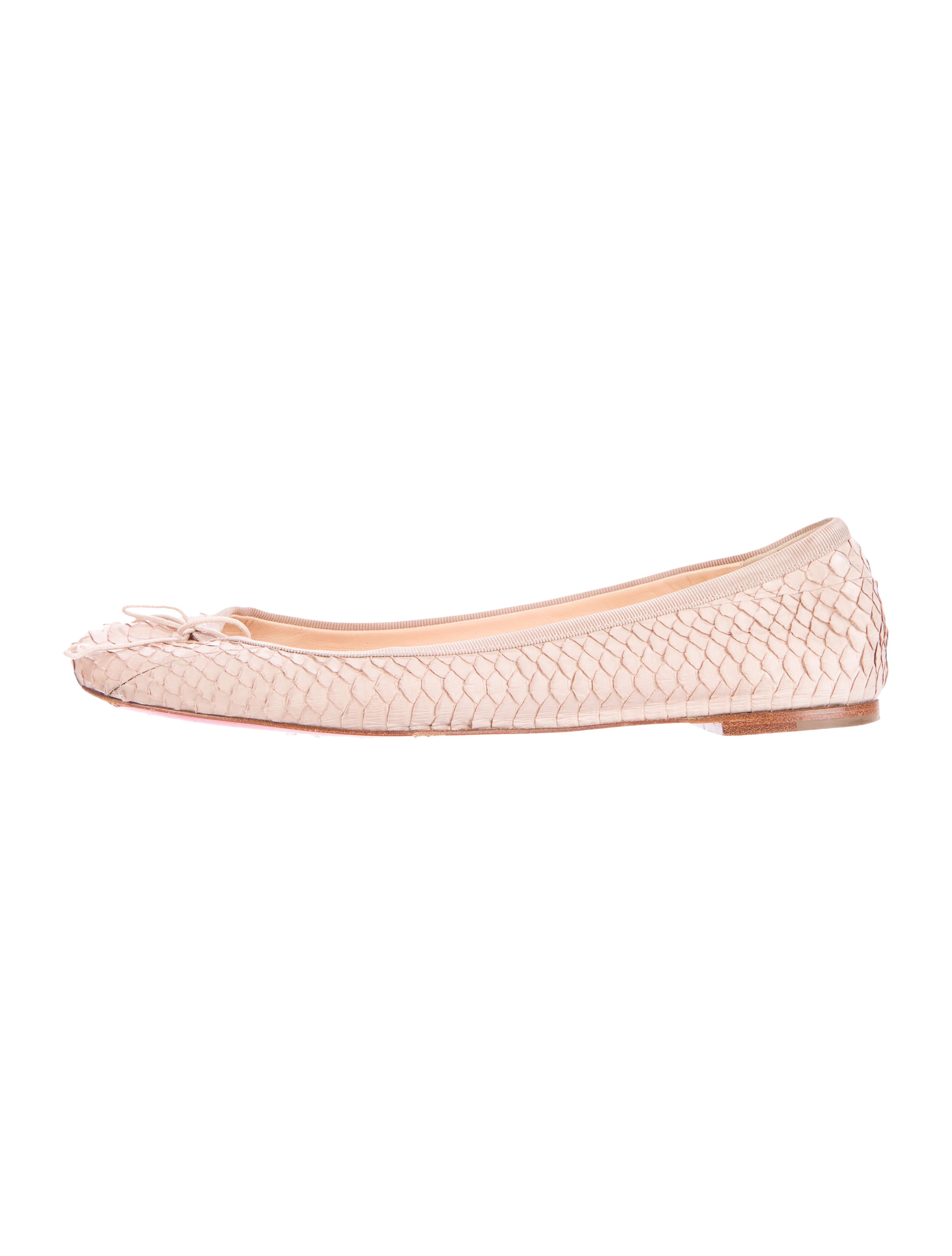 58696074d29 Christian Louboutin Python Ballet Flats - Shoes - CHT54604 | The ...