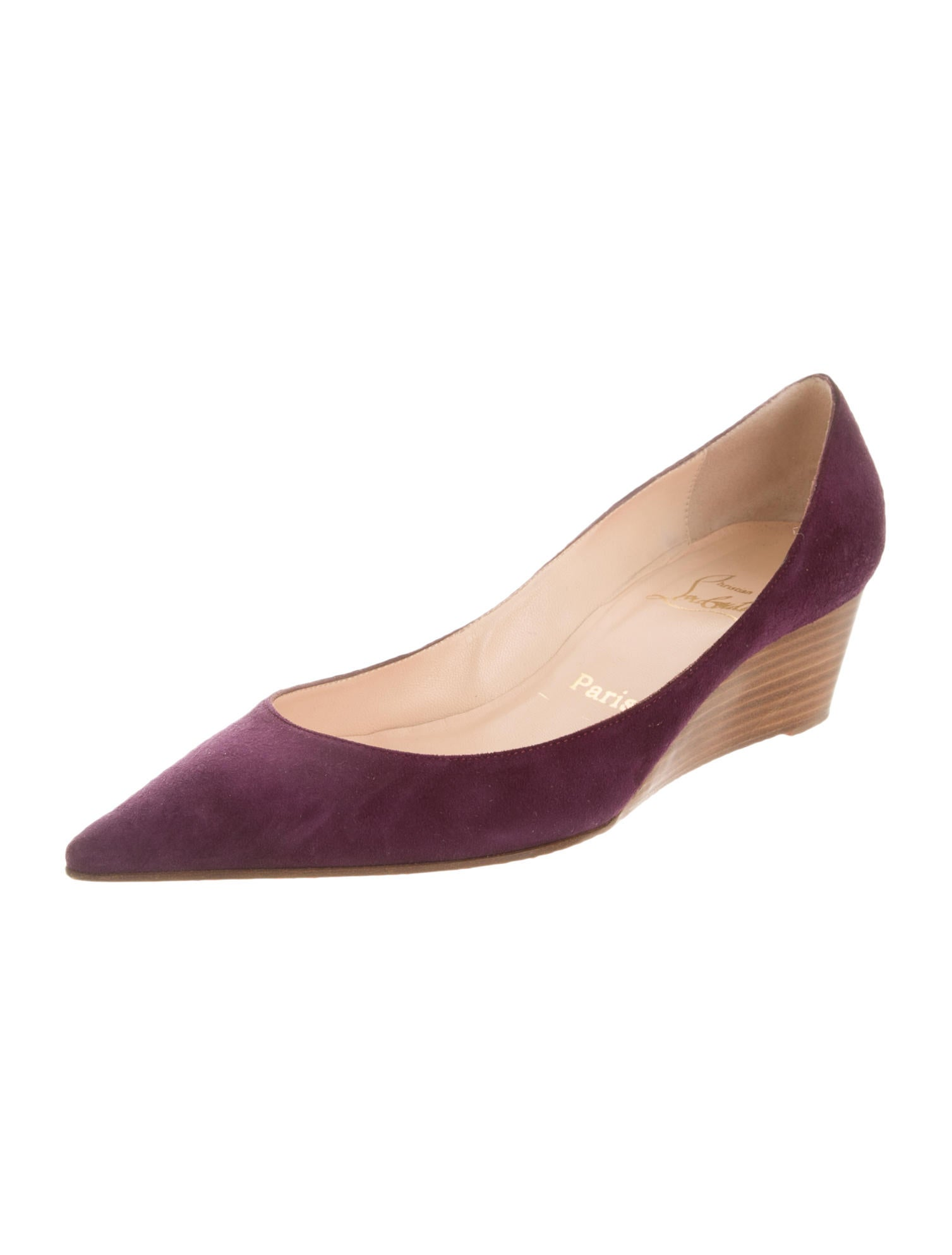 christian louboutin l evidence pointed toe wedges shoes
