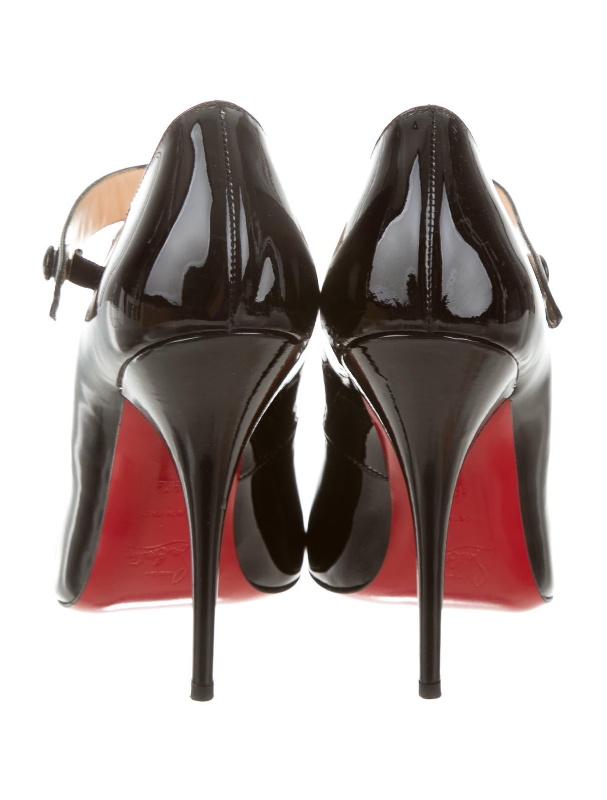 christian louboutin neo pensee mary jane red sole pump black