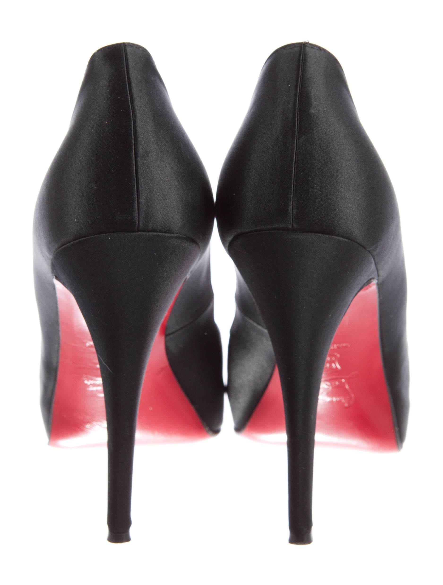 9534e89c563 Christian Louboutin 38 Black Heels With Red Soles | Law Lanka