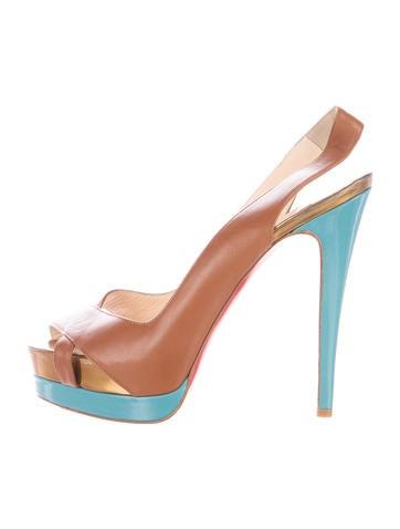 Christian Louboutin Platform Slingback Sandals None