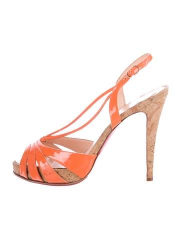 Patent Slingback Sandals