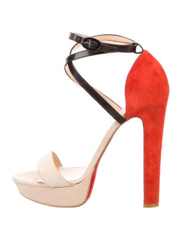 Christian Louboutin Suede Platform Sandals None