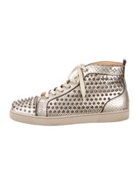 finest selection befbc 4e2ed Christian Louboutin Louis Flat Python Cosmo/Spikes Sneakers ...