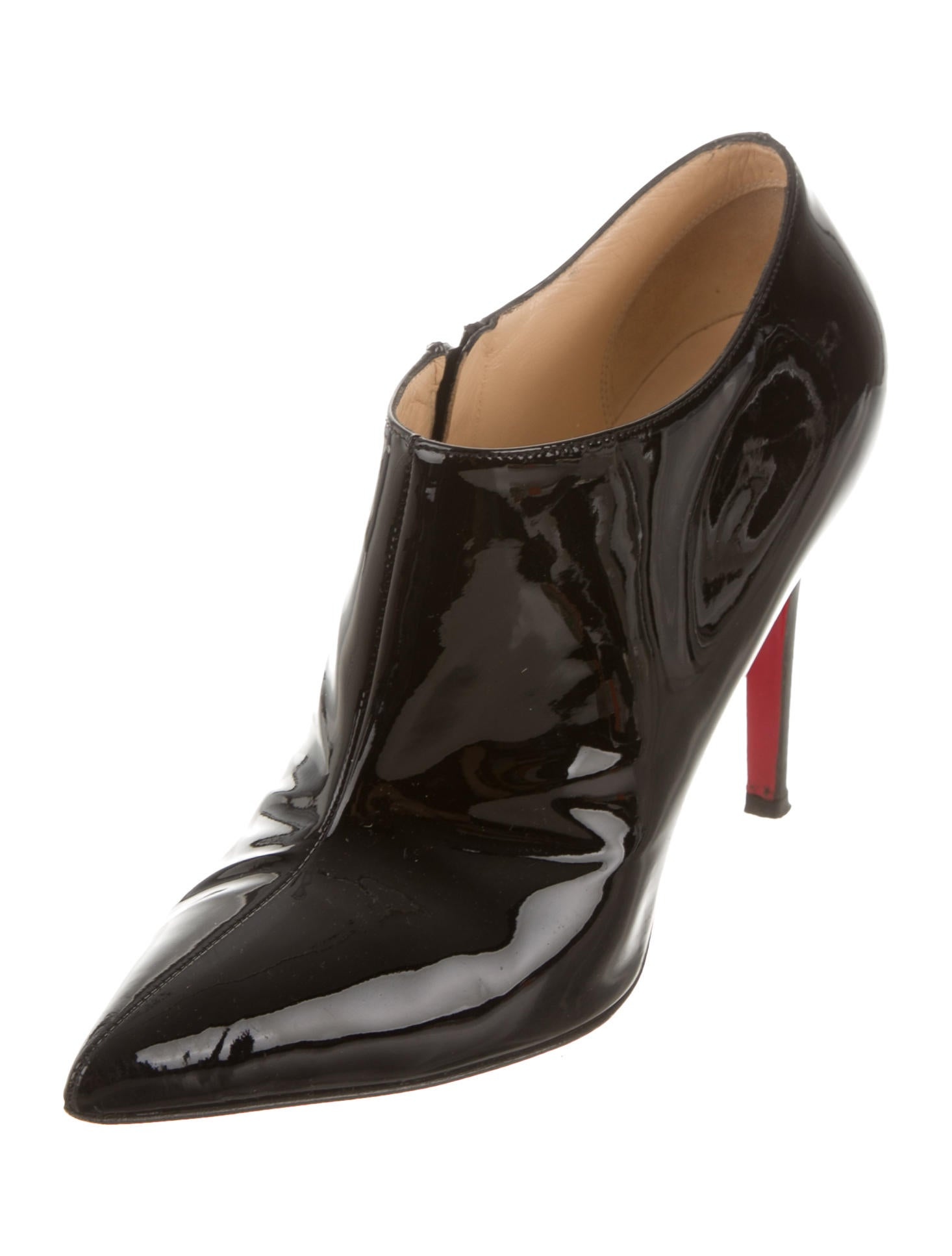 Christian Louboutin Patent Leather Pointed Toe Booties