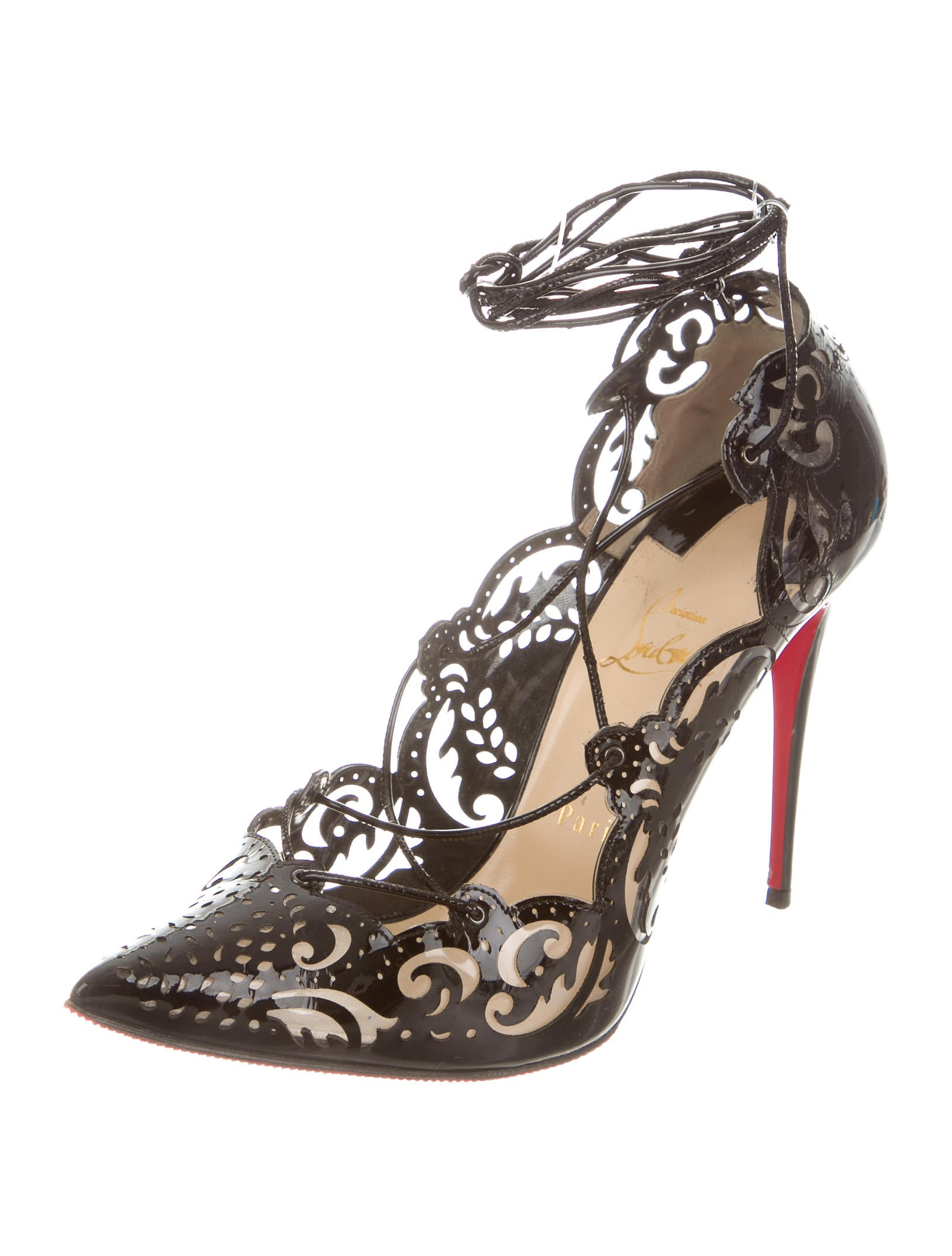 cheap price outlet sale top quality sale online Christian Louboutin Impera 120 Laser Cut Pumps how much cheap price discount popular QhCB0
