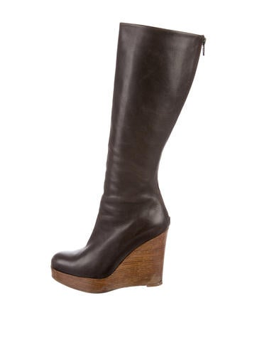 Christian Louboutin Platform Wedge Boots None