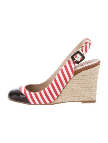 Christian Louboutin Cap-Toe Espadrille Wedges None