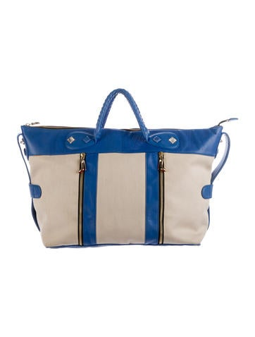 Christian Louboutin Leather-Trimmed Canvas Tote