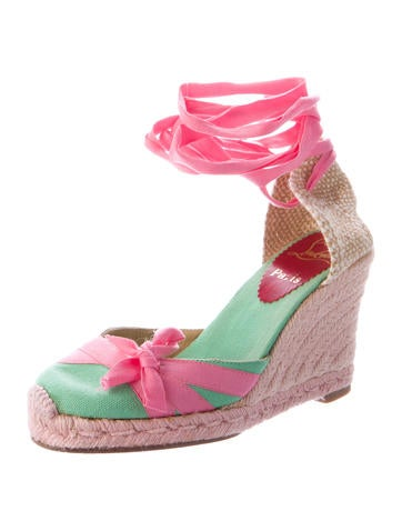 Wrap-Around Wedge Espadrilles