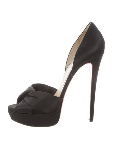 Christian Louboutin Satin Platform Sandals