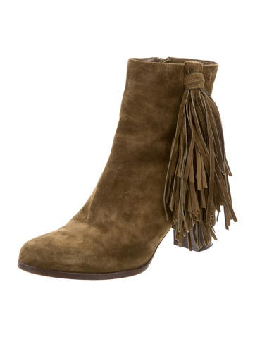 christian louboutin suede tassel boots shoes cht59910