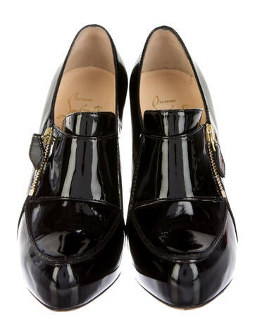 Patent Leather Zip Booties