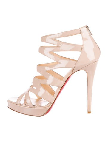 Christian Louboutin Patent Leather Cage Sandals None