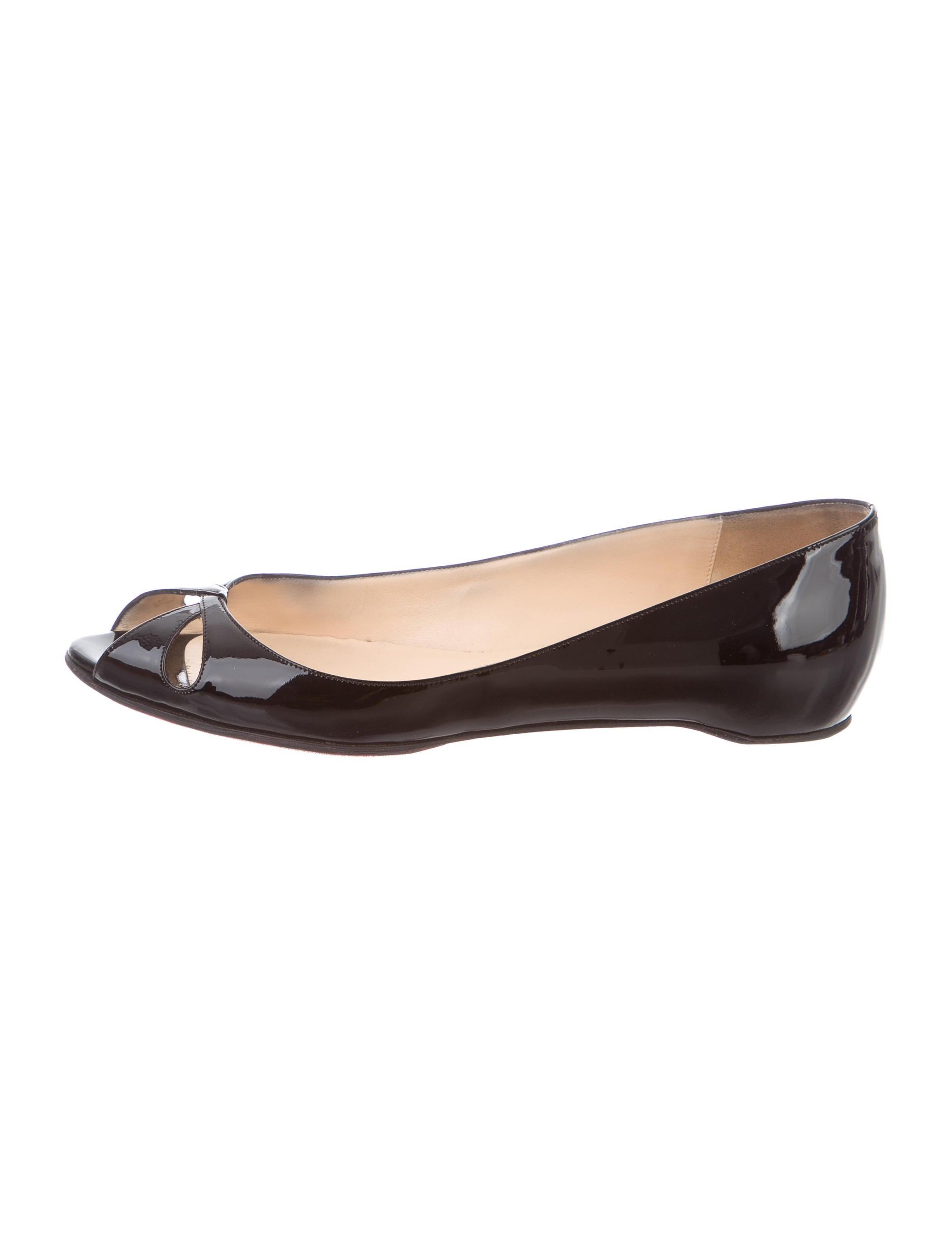6b8270de5641 Christian Louboutin Teresa Peep-Toe Flats - Shoes - CHT60613
