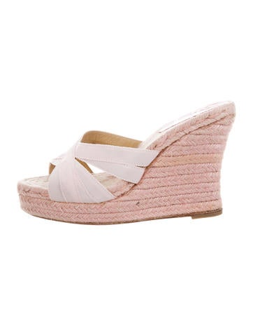 Christian Louboutin Espadrille Wedge Sandals None
