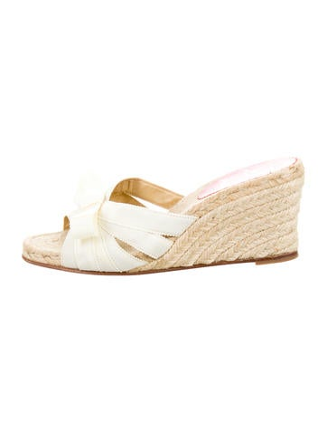 Christian Louboutin Bow Espadrille  Wedges None